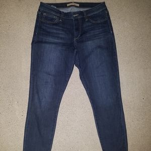 Joes Jeans straight legged unhemmed
